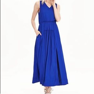 NWOT Banana Republic Cobalt Blue Maxi Dress